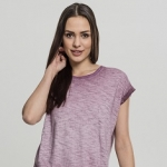 Ladies Spray Dye Extended Shoulder Tee