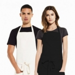 Unisex Bib Apron with Pockets